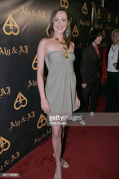 Parisse Boothe during Aly and AJ's Birthday Bash at Les Deux Red Carpet at Les Deux Cafe in Hollywood California United States