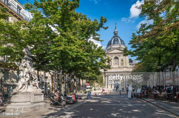 paris-sorbonne university - university of paris stock photos and pictures