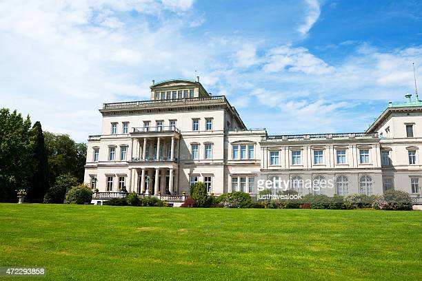 park and manor house villa hügel in essen - essen germany stock pictures, royalty-free photos & images