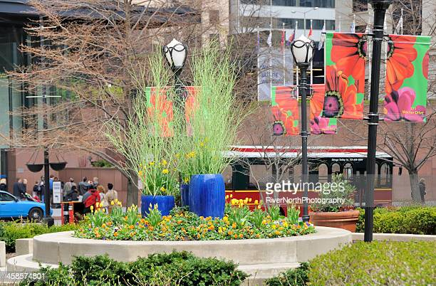 park at 311 south wacker drive, chicago - wacker drive stock photos and pictures