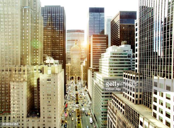 park avenue, new york city - midtown manhattan stock pictures, royalty-free photos & images