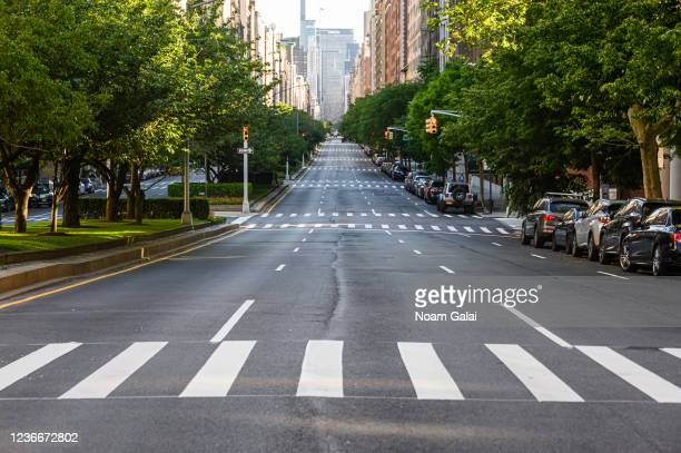 Park Avenue stands near empty during the coronavirus pandemic on May 30, 2020 in New York City. Government guidelines encourage wearing a mask in...
