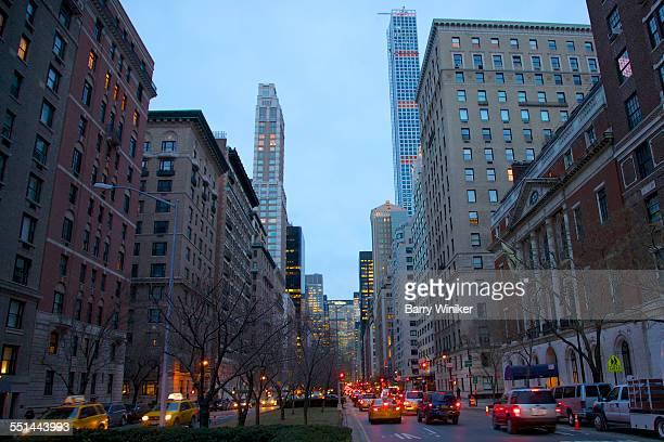 park avenue, upper east side, nyc - アッパーイーストサイドマンハッタン ストックフォトと画像