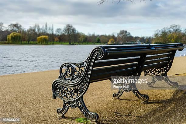 Park bench, Hyde Park, London