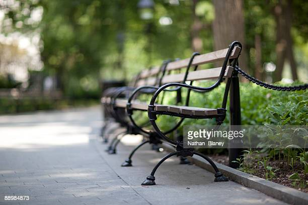 Park benches.