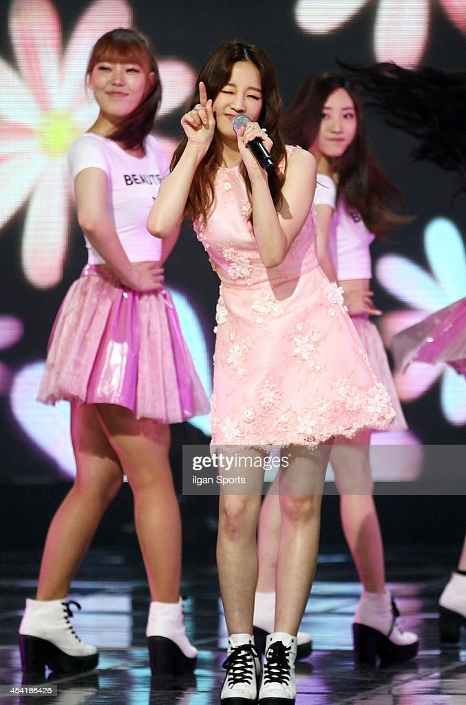 Park Bo-Ram performs onstage during the Mnet 'M Count Down' at CJ E&M center on August 21, 2014 in Seoul, South Korea.
