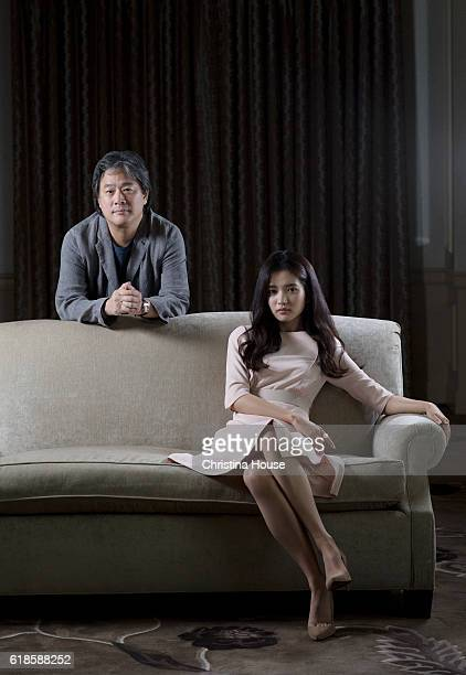 Park ChanWook Kim Taeri are photographed for Los Angeles Times on September 27 2016 in Los Angeles California
