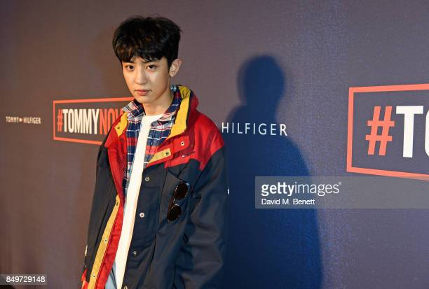 Park Chanyeol attends the Tommy Hilfiger TOMMYNOW Fall 2017 Show during London Fashion Week September 2017 at The Roundhouse on September 19 2017 in...