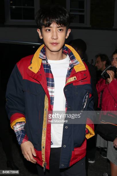 Park Chanyeol seen at Tommy Hilfiger TOMMYNOW Fall 2017 Show at The Roundhouse during London Fashion Week September 2017 on September 19 2017 in...