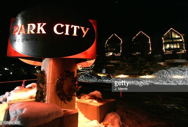 Park City Sign during 2005 Sundance Film Festival Atmosphere Day 8 in Park City Utah United States
