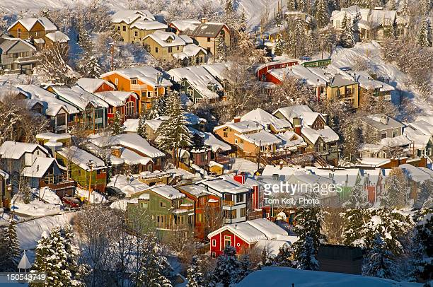 park city's old town - park city stock pictures, royalty-free photos & images