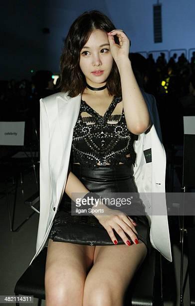 Park EunJi attends the 2014 F/W Seoul Fashion Week 'Kwak HyunJoo Fashion Show' at DDP on March 26 2014 in Seoul South Korea