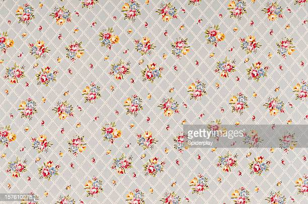 Park Gate Trellis Medium Antique Floral Fabric