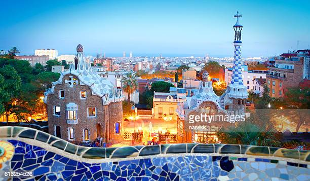 park güell in barcelona - barcelona spain stock pictures, royalty-free photos & images