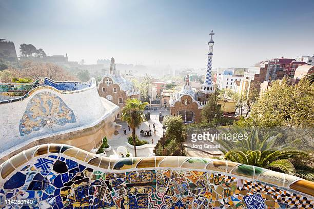 park güell - barcelona spain stock pictures, royalty-free photos & images