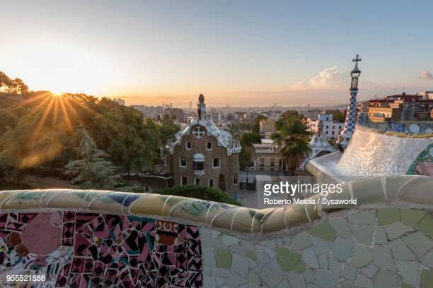 park guell, barcelona, spain - 国際連合教育科学文化機関 ストックフォトと画像