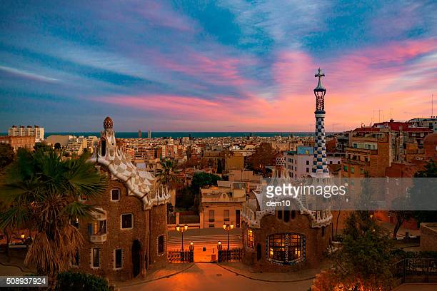 park guell in barcelona - spain stock pictures, royalty-free photos & images