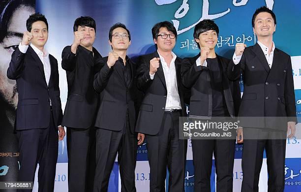 Park HaeJoon Jo JinWoong Kim SungKyun Kim YunSeok Yeo JinGu and Jang HyunSung attend the 'Hwai' press conference at Dongdaemun Megabox on September 3...
