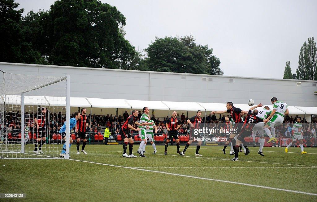 Soccer - UEFA Champions League 2nd Round Qualifying Round 2nd Leg - The New Saints v Bohemian FC : News Photo