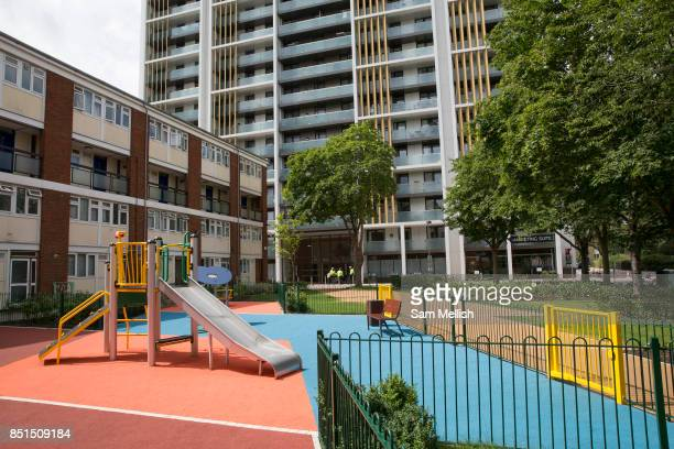 Park Heights SW9 next to Dudley House on 3rd August 2016 in London United Kingdom Park Heights is a new housing tower block in the London Borough of...