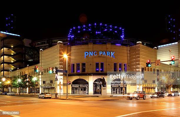 Park home of the Pittsburgh Pirates baseball team at night in Pittsburgh Pennsylvania on August 26 2016