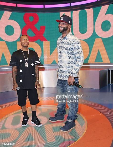 106 Park host Bow Wow and Joe Budden attend 106 Park at BET studio on July 9 2014 in New York City