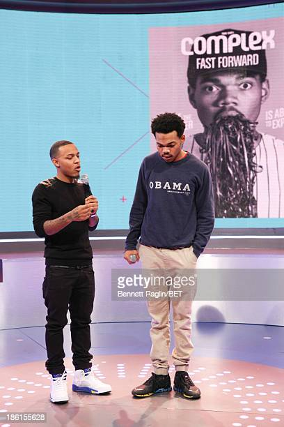106 Park host Bow Wow and recording artist Chance the Rapper attend 106 Park at 106 Park studio on October 28 2013 in New York City