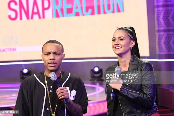106 Park host Bow Wow and recording artist Kat Dahila visits 106 Park at BET studio on February 13 2014 in New York City