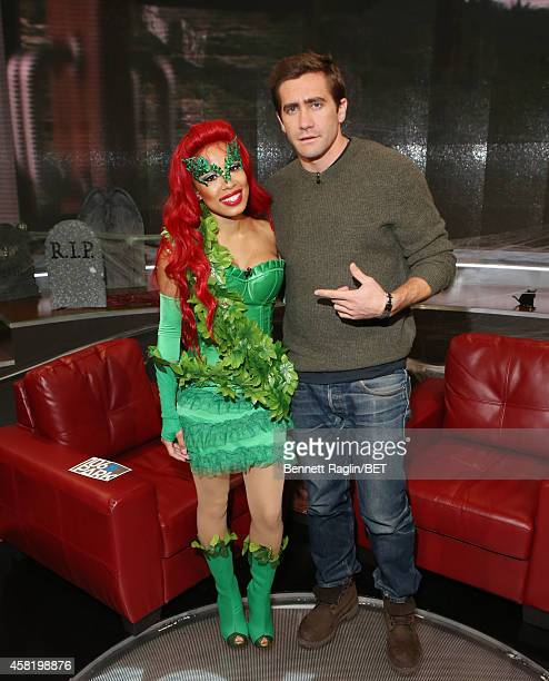 106 Park host Keshia Chante and actor Jake Jake Gyllenhaal attend 106 Park at BET studio on October 29 2014 in New York City