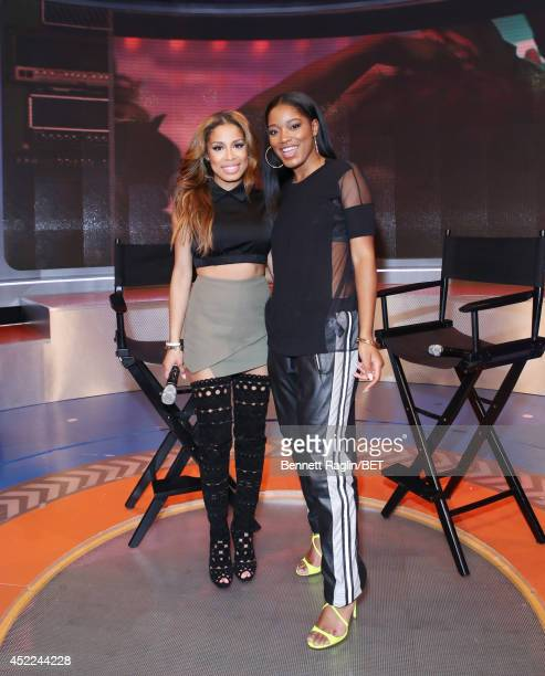 106 Park host Keshia Chante and actress KeKe Palmer attend 106 Park at BET studio on July 16 2014 in New York City
