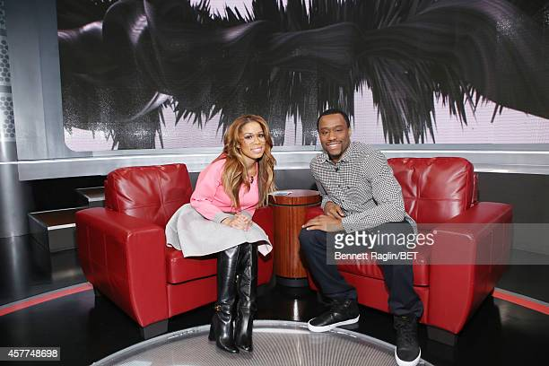 106 Park host Keshia Chante and Marc Lamont Hill attend 106 Park at BET studio on October 22 2014 in New York City