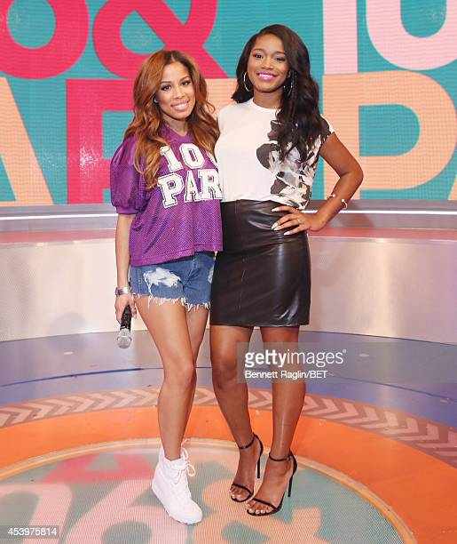 106 Park host Keshia Chante and TV personality Keke Palmer attend 106 Park at BET studio on August 20 2014 in New York City