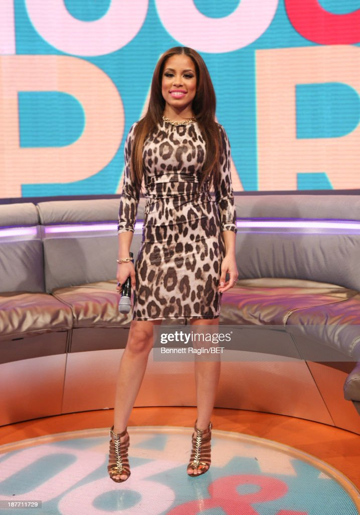 106 & Park host Keshia Chante attend 106 & Park at 106 & Park studio on November 11, 2013 in New York City.
