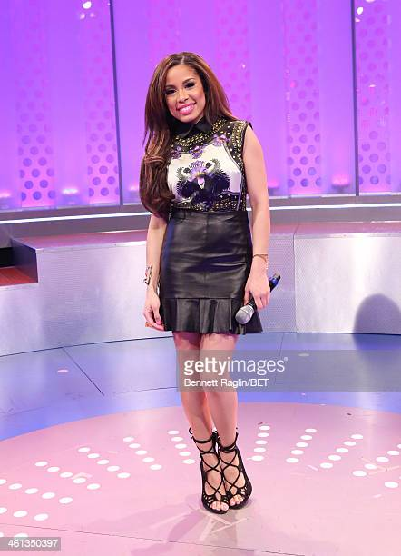 106 Park host Keshia Chante attend 106 Park at BET studio on January 7 2014 in New York City