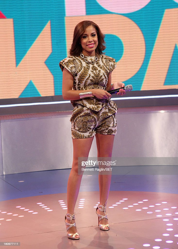 106 & Park host Keshia Chante attends 106 & Park at 106 & Park Studio on September 18, 2013 in New York City.