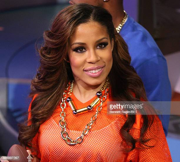 Park host Keshia Chante attends 106 & Park at BET studio on January 30, 2014 in New York City.