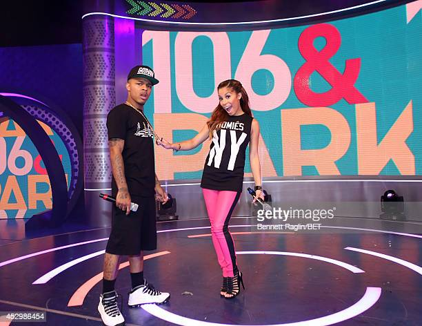 106 Park hosts Shad Moss and Keshia Chante attend 106 Park at BET studio on July 30 2014 in New York City