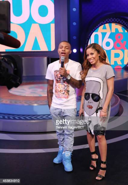 106 Park hosts Shad Moss and Keshia Chante attend 106 Park at BET studio on August 18 2014 in New York City