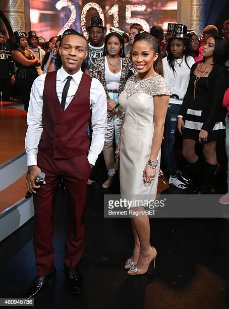 106 Park hosts Shad Moss and Keshia Chante attend 106 Party at BET studio on December 12 2014 in New York City
