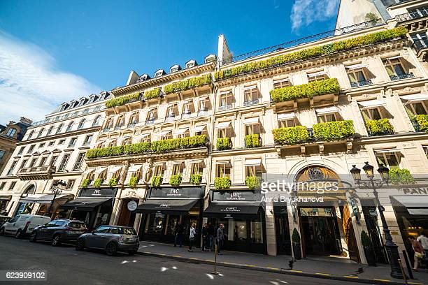 Park Hyatt Hotel and Luxury shops in Paris, France
