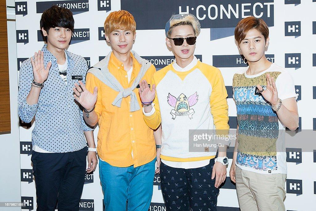 Park Hyung-Sik, Kevin Ji Yeob Kim, Ha Min-Woo and Kim Dong-Jun (Dongjun) of South Korean boy band