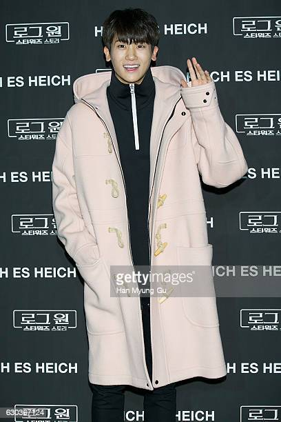 Park HyungSik of South Korean boy band ZEA Five attends the photo call for HEICH ES HEICH 2017 S/S Collection x Rogue One A Star Wars Story on...