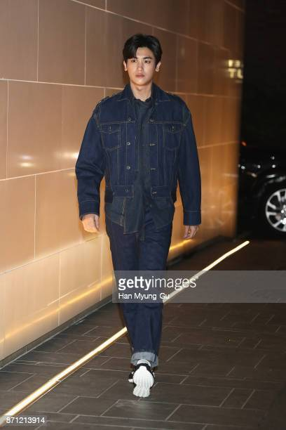 Park HyungSik of South Korean boy band ZEA Five attends the 'VALENTINO' The VLTN PopUp Store Opening on November 7 2017 in Seoul South Korea