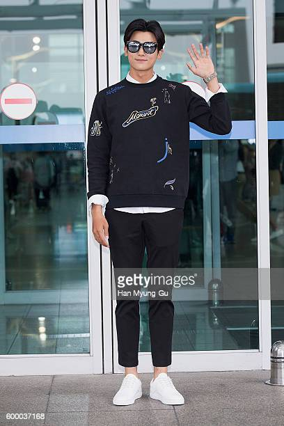 Park HyungSik of South Korean boy band ZEA Five is seen on departure at Incheon International Airport on September 7 2016 in Incheon South Korea