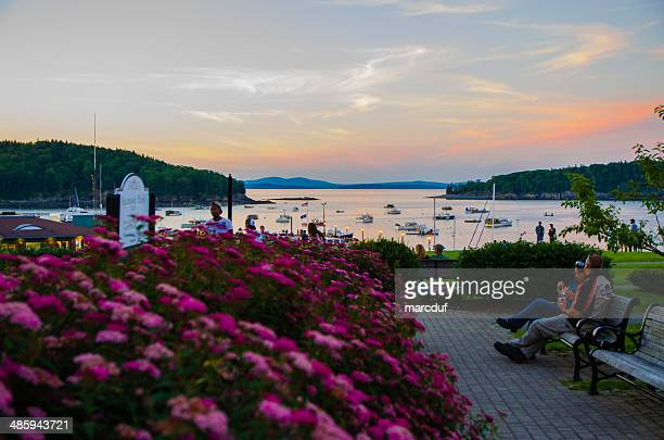 park in bar harbor - bar harbor stock photos and pictures