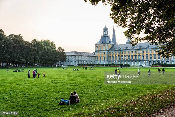 Park in front of Bonn University, in Bonn, Germany, 08 September 2014. Bonn, that offers many touristic attractions, was founded in the first century...