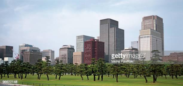 Park in Front of Marunouchi Skyline, Tokyo