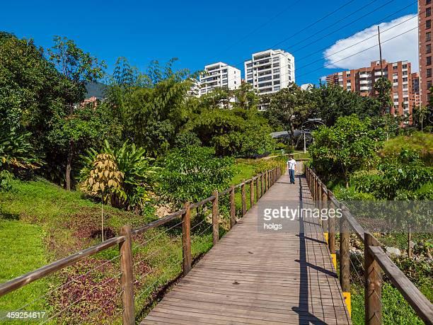Park in the center of El Poblado Medellin, Colombia