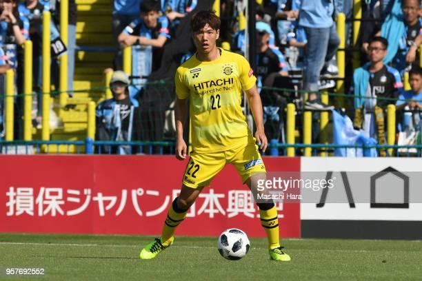 Park Jeong Su of Kashiwa Reysol in action during the JLeague J1 match between Kashiwa Reysol and Kawasaki Frontale at Sankyo Frontier Kashiwa Stadium...