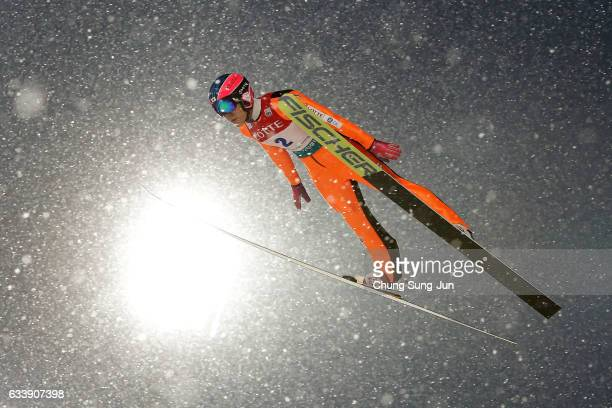 Park JeUn of South Korea competes in the Individual Gundersen LH 10km during the FIS Nordic Combined World Cup presented by Viessmann Test Event For...